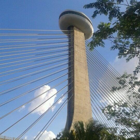 Photo taken at Ponte Estaiada by Tiago V. on 10/21/2012