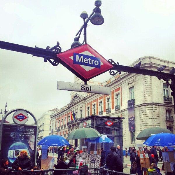 Metro Sol Metro Station In Madrid