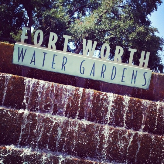 Fort Worth Water Gardens Garden In Downtown Fort Worth