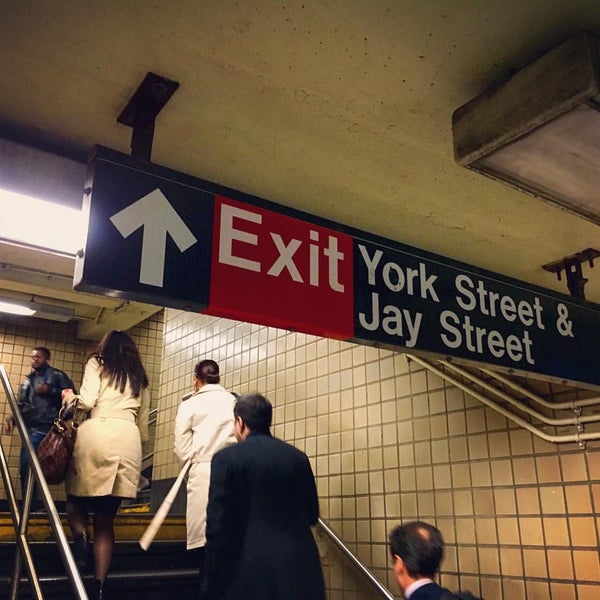 Photo taken at MTA Subway - York St (F) by Jude L. on 9/27/2016