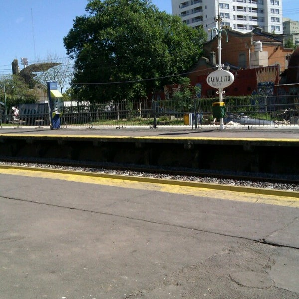 Photo taken at Estación Caballito [Línea Sarmiento] by Fabio G. on 4/14/2013