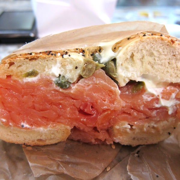 i went on a hunt for the best bagel and lox in nyc, and this came out the winner!