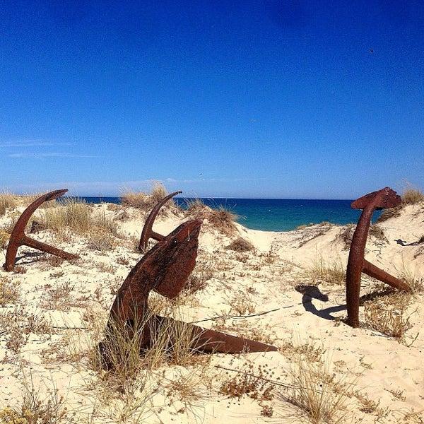 Photo taken at Praia do Barril by Bernd F. on 8/6/2013