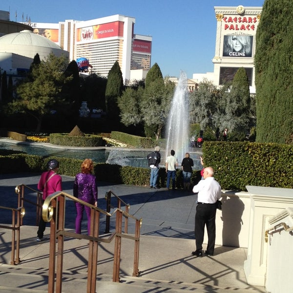 Photo taken at Caesars Palace Gardens by Rob P. on 1/20/2014