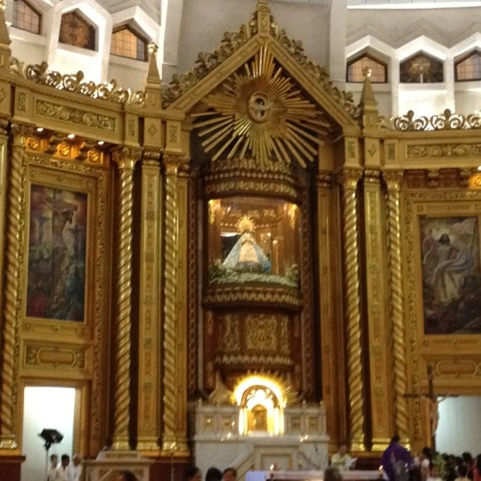 Photo taken at National Shrine of Our Lady of Peace and Good Voyage (Antipolo Cathedral) by Ana L. on 2/23/2013