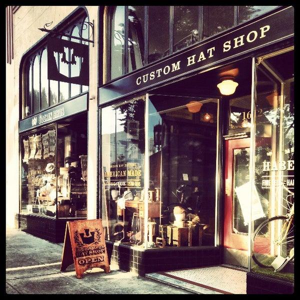 Photo taken at Goorin Bros. Hat Shop by Alex U. on 3/25/2013