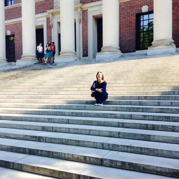 Photo taken at Widener Library by magnolfi on 7/10/2014
