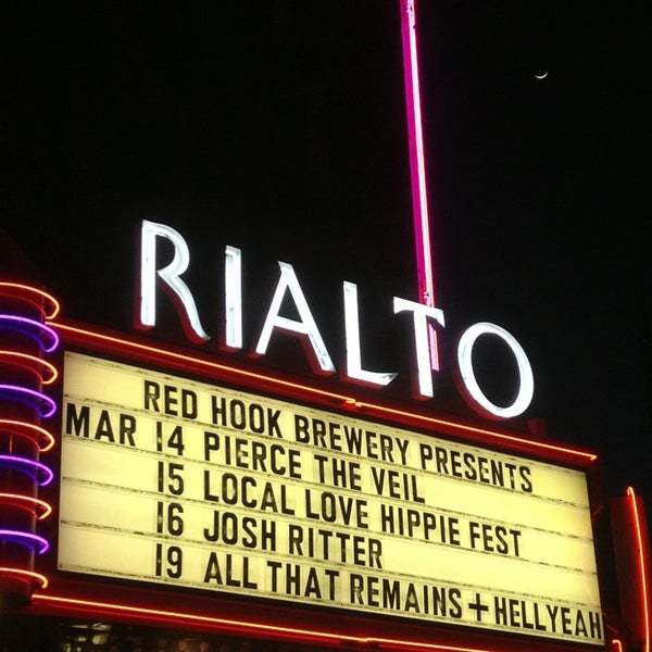 Photo taken at The Rialto Theatre by Carol C. on 3/15/2013