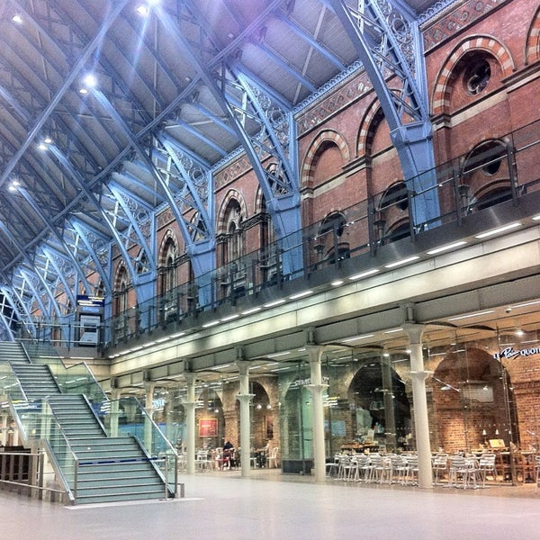 Photo taken at London St Pancras International Railway Station (STP) by Evgenia G. on 4/15/2013