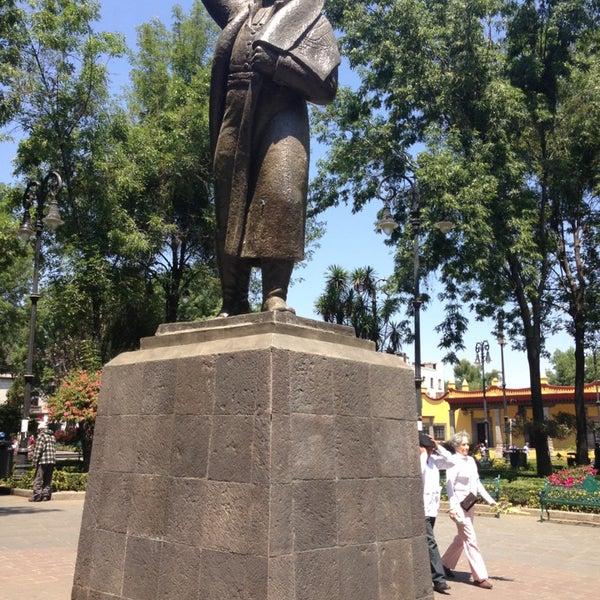 Photo taken at Jardín Hidalgo by Ayalet L. on 3/24/2013
