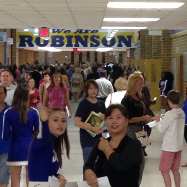 Photo taken at Robinson Secondary School by CJ W. on 9/18/2014
