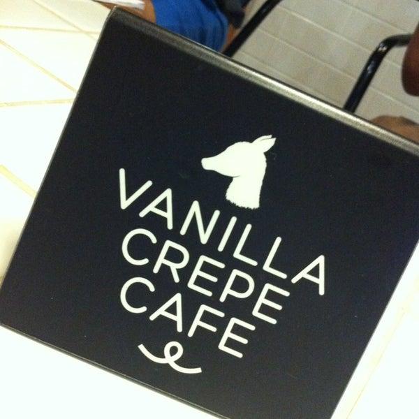 Photo taken at Vanilla Crepe Cafe by Jittawan S. on 2/23/2013