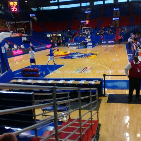 Photo taken at Allen Fieldhouse by Ralph F. on 12/18/2012