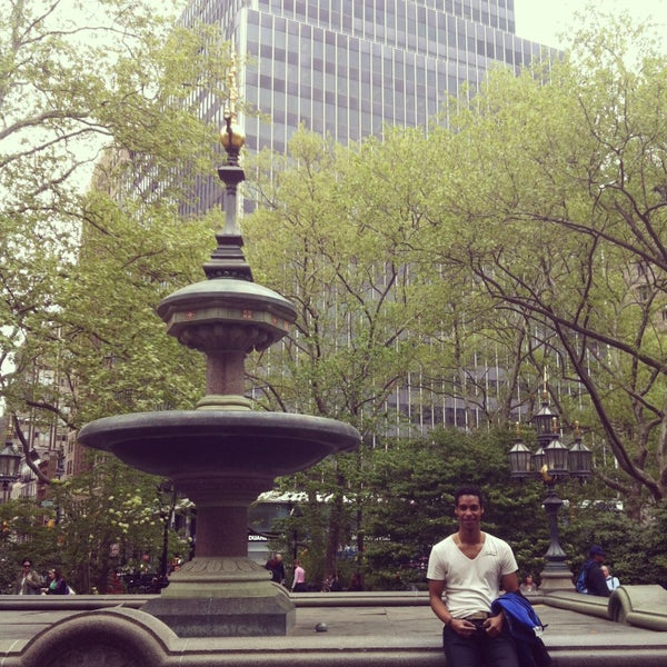 Photo taken at City Hall Park by Oski J. on 5/8/2013