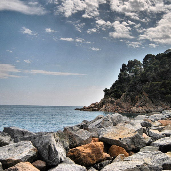 Photo taken at Cala Canyelles by Toni B. on 6/12/2013