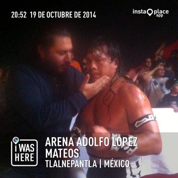 Photo taken at Arena Adolfo Lopez Mateos by Crixus W. on 10/20/2014