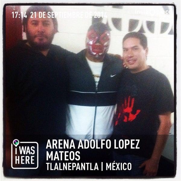 Photo taken at Arena Adolfo Lopez Mateos by Crixus W. on 9/21/2014