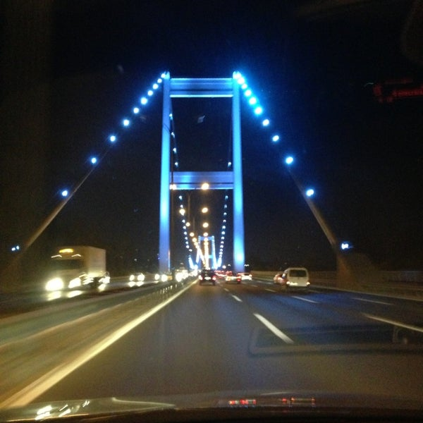 Photo taken at Fatih Sultan Mehmet Bridge by Yunus E. on 7/27/2013