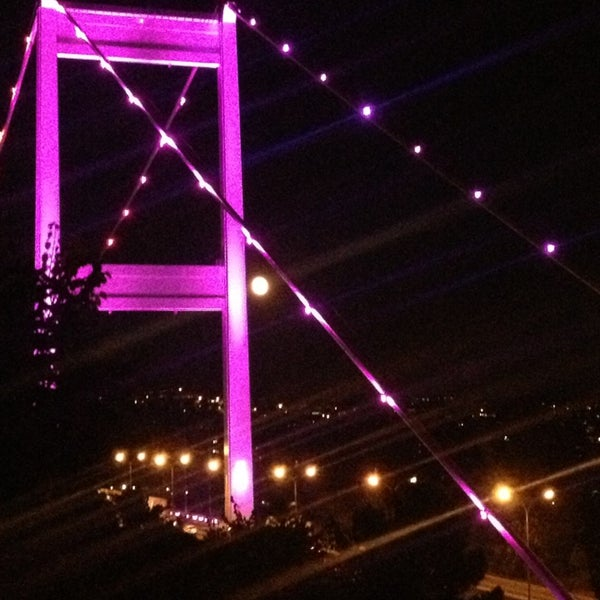 Photo taken at Fatih Sultan Mehmet Bridge by Cakiroglu on 7/24/2013
