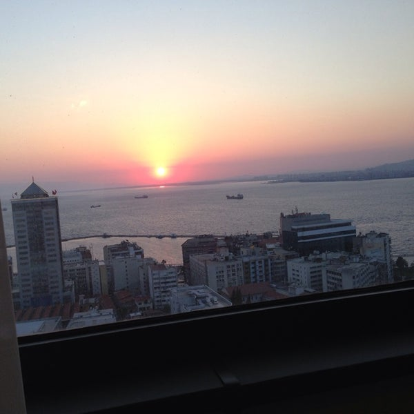 Photo taken at Hilton İzmir by Hülya T. on 7/11/2013
