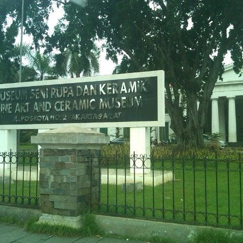 Photo taken at Museum Seni Rupa dan Keramik by Gilang P. on 1/16/2013