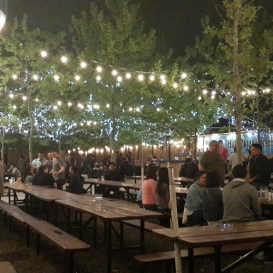 Photo taken at Zeppelin Hall Biergarten by Timothy J. on 5/12/2013