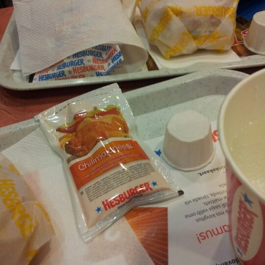 Photo taken at Hesburger by Rēzija E. on 1/31/2013