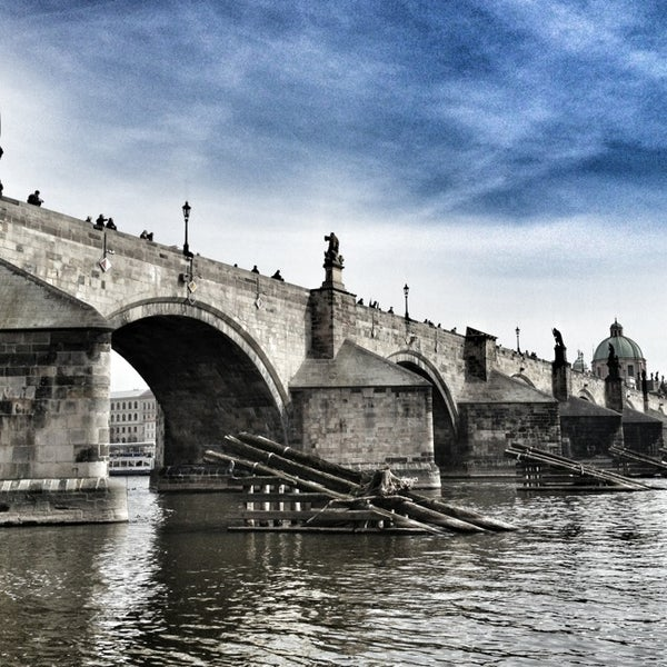 Photo taken at Karlův most | Charles Bridge by Martin K. on 4/8/2013