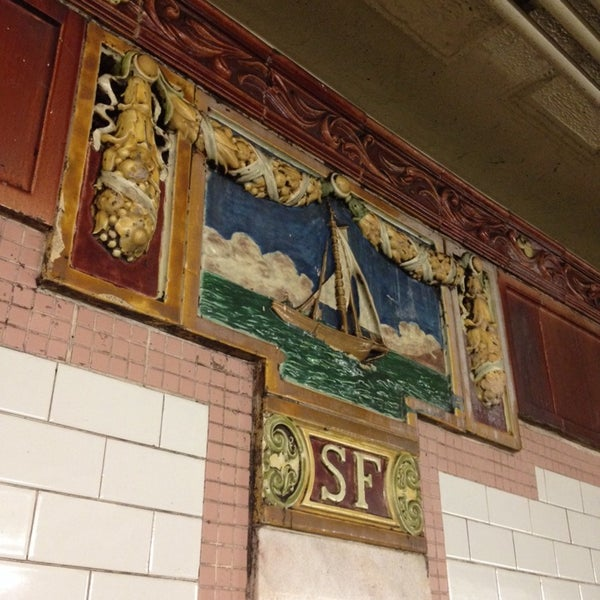 Photo taken at MTA Subway - South Ferry (1) by Andrea M. on 6/8/2014