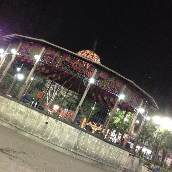 Photo taken at Jardín Hidalgo by Led F. on 5/4/2013