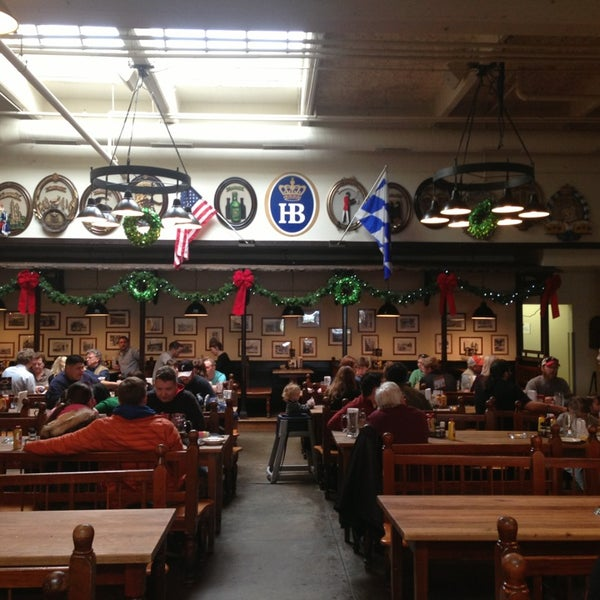 Photo taken at Hofbräuhaus Newport by Tanya S. on 12/28/2013