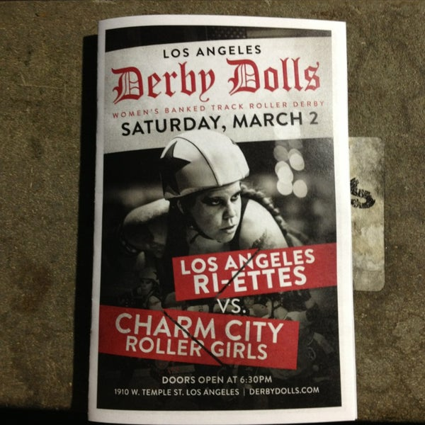 Photo taken at Doll Factory (L.A. Derby Dolls) by Rosa S. on 3/3/2013