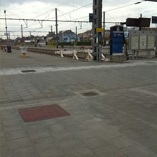 Photo taken at Station Blankenberge by Gillian D. on 10/22/2013