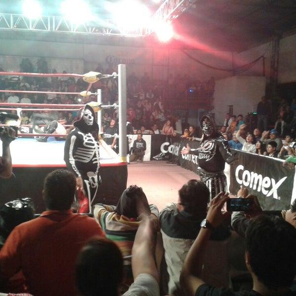 Photo taken at Arena Adolfo Lopez Mateos by Aldo L. on 4/7/2013