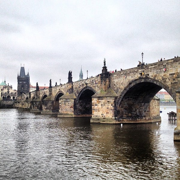 Photo taken at Karlův most | Charles Bridge by Mikhail S. on 5/2/2013