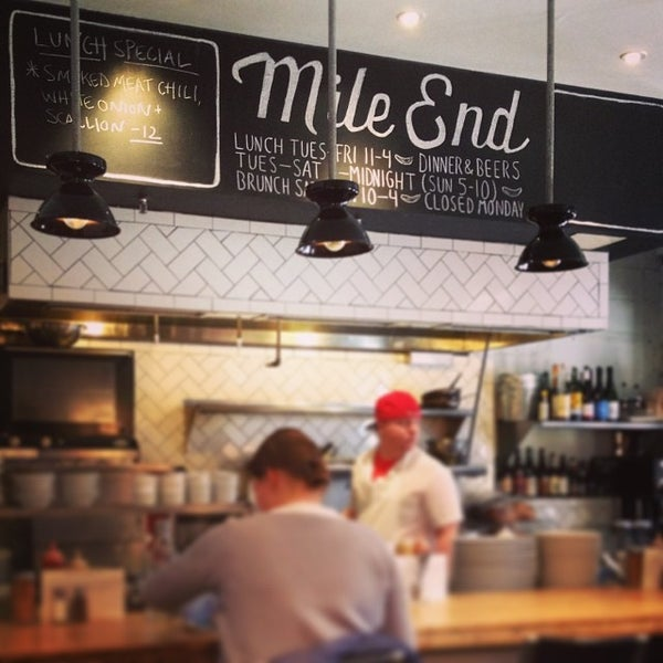 Photo taken at Mile End Delicatessen by Carolina L. on 1/28/2014