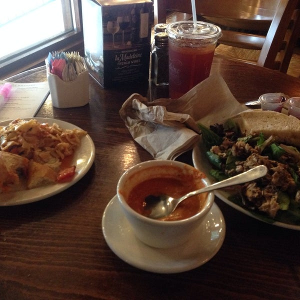 Photo taken at La Madeleine Country French Café by Angelina G. on 12/7/2013