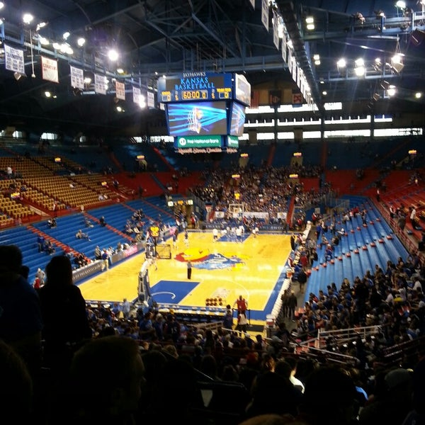 Photo taken at Allen Fieldhouse by Cherys E. on 3/4/2013