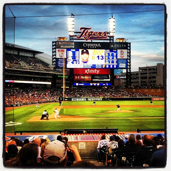 Photo taken at Comerica Park by Patrick D. on 6/6/2013