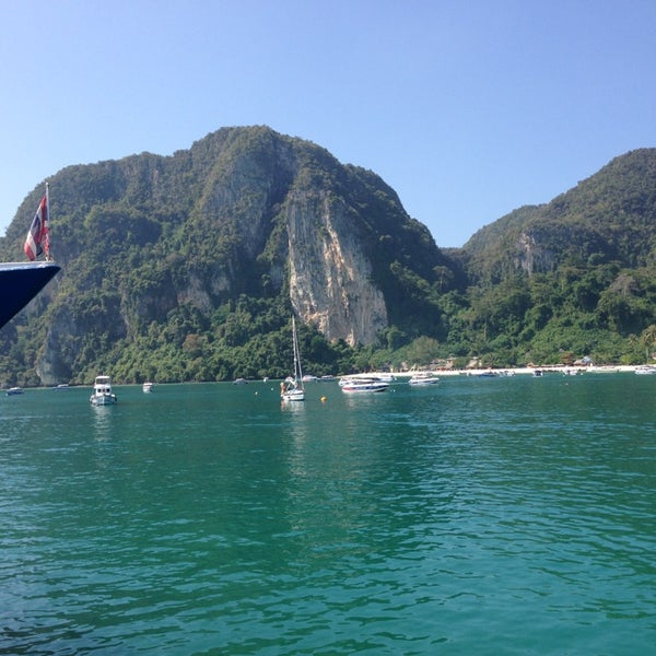 Photo taken at เกาะพีพีดอน (Koh Phi Phi Don) by Burak O. on 1/18/2013