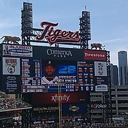 Photo taken at Comerica Park by Julie S. on 5/20/2012