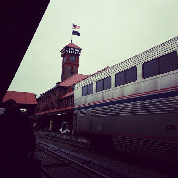 Photo taken at Union Station Amtrak (PDX) by Kaishin C. on 12/28/2012