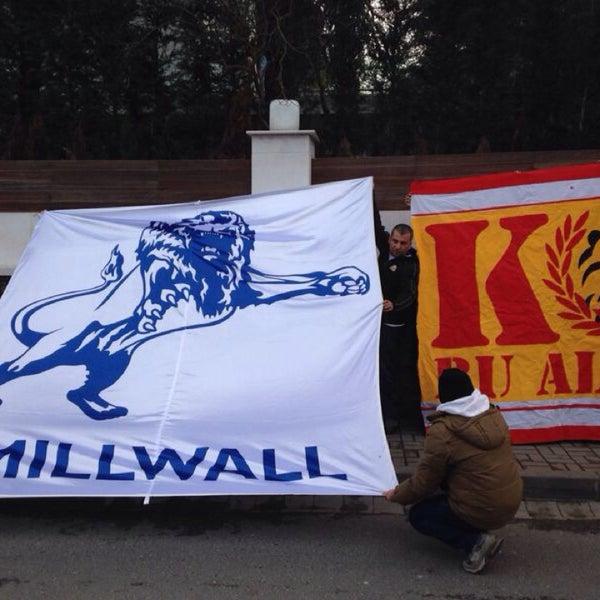 Photo taken at Millwall English Pub by Burak G. on 3/2/2014