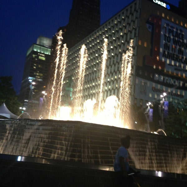 Photo taken at Campus Martius Park by Lynette W. on 7/6/2013