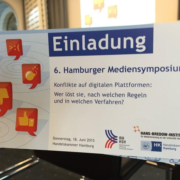 Photo taken at Handelskammer Hamburg by Carsten O. on 6/18/2015
