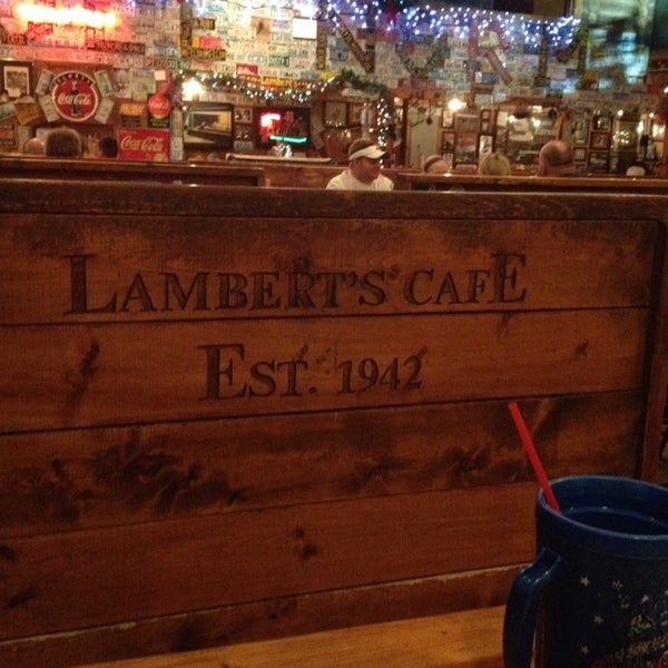 Photo taken at Lambert's Cafe by Caryl T. on 12/22/2013