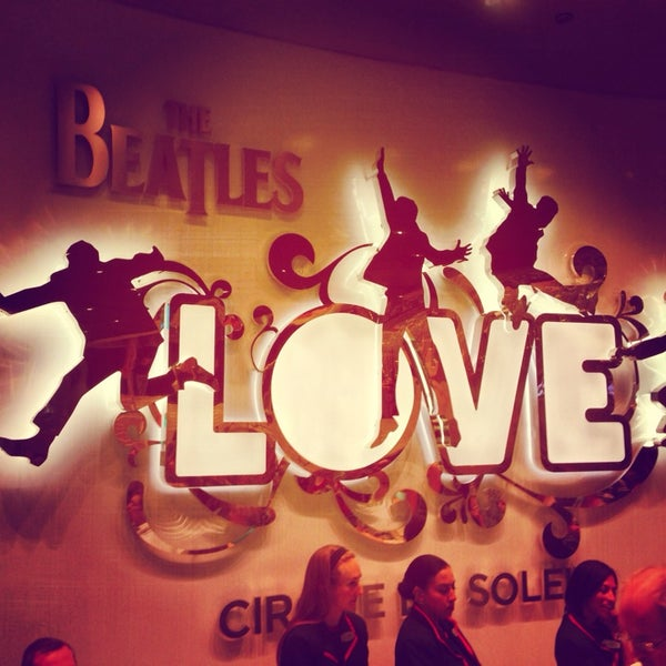 Photo taken at The Beatles LOVE (Cirque Du Soleil) by Adam H. on 3/31/2014