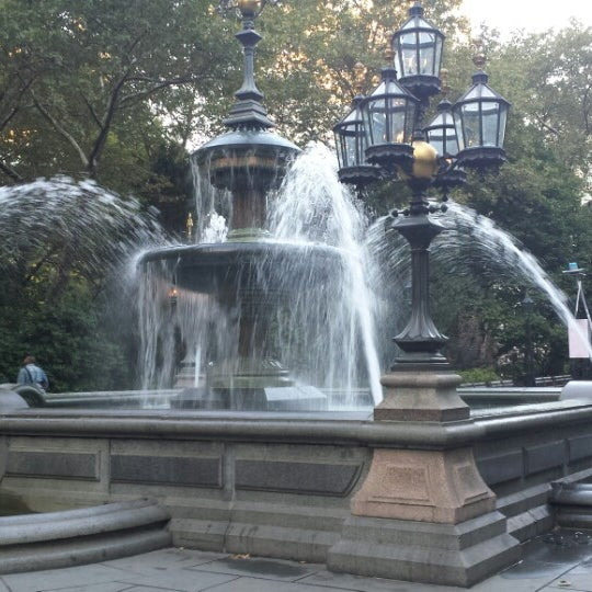 Photo taken at City Hall Park by Miantsa R. on 10/22/2013