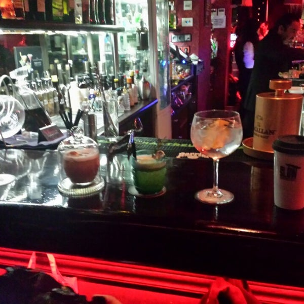 Photo taken at Slow Barcelona Cocktails & Boîte by Ivan C. on 11/24/2013