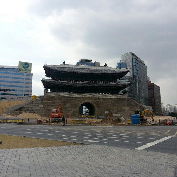 Photo taken at Sungnyemun by minjeong k. on 4/10/2013